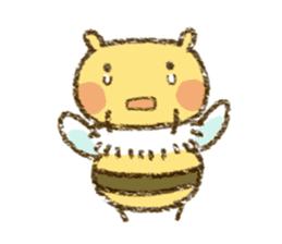 Fluffy bee sticker #4518190