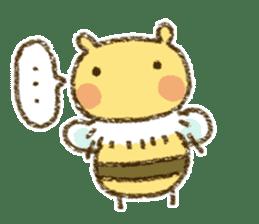 Fluffy bee sticker #4518191