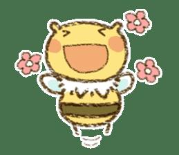 Fluffy bee sticker #4518192
