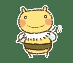 Fluffy bee sticker #4518193