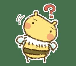Fluffy bee sticker #4518194