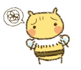Fluffy bee sticker #4518195
