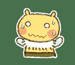 Fluffy bee sticker #4518196