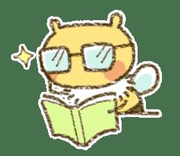 Fluffy bee sticker #4518198