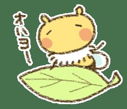 Fluffy bee sticker #4518201