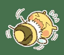 Fluffy bee sticker #4518203