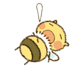 Fluffy bee sticker #4518204