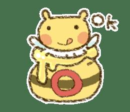 Fluffy bee sticker #4518205