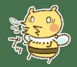 Fluffy bee sticker #4518208