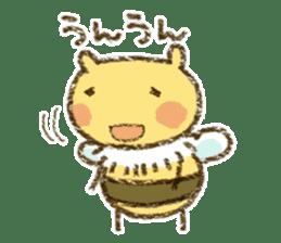 Fluffy bee sticker #4518209