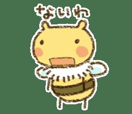 Fluffy bee sticker #4518210