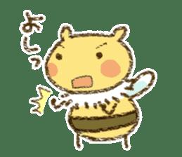 Fluffy bee sticker #4518211