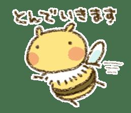 Fluffy bee sticker #4518213