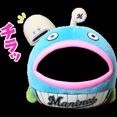 สติ๊กเกอร์ไลน์ Chiba Lotte Marines: The Mysterious Fish
