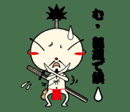 samurai mr. utuke sticker #4519960