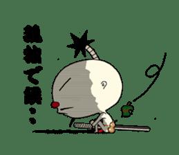 samurai mr. utuke sticker #4519967
