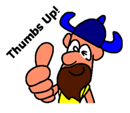 Alex the funny viking sticker #4538809