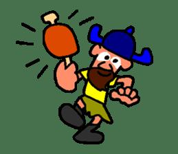 Alex the funny viking sticker #4538828