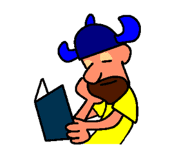 Alex the funny viking sticker #4538834