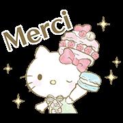 สติ๊กเกอร์ไลน์ Hello Kitty×Les Secrets LADURÉE