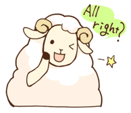 Marshmallow sheep sticker #4542784