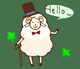 Marshmallow sheep sticker #4542785