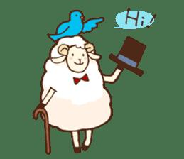Marshmallow sheep sticker #4542786