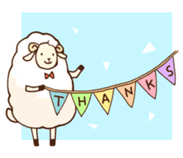 Marshmallow sheep sticker #4542788