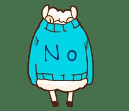 Marshmallow sheep sticker #4542791
