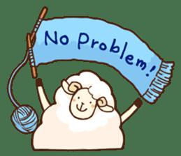 Marshmallow sheep sticker #4542793