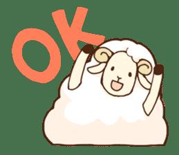 Marshmallow sheep sticker #4542794
