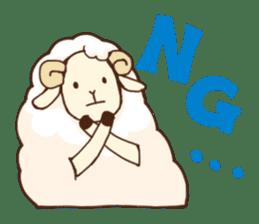 Marshmallow sheep sticker #4542795