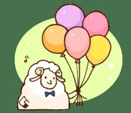 Marshmallow sheep sticker #4542796