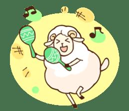 Marshmallow sheep sticker #4542797