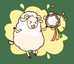 Marshmallow sheep sticker #4542798