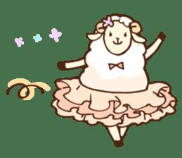 Marshmallow sheep sticker #4542799