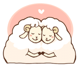 Marshmallow sheep sticker #4542801
