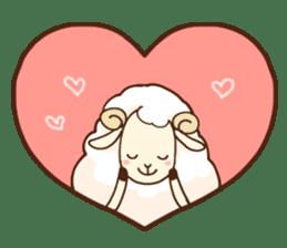 Marshmallow sheep sticker #4542802