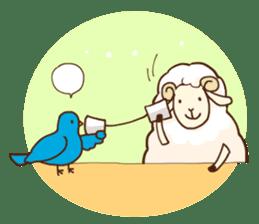 Marshmallow sheep sticker #4542803