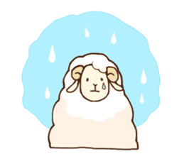 Marshmallow sheep sticker #4542804