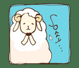 Marshmallow sheep sticker #4542806