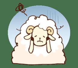 Marshmallow sheep sticker #4542807