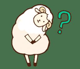Marshmallow sheep sticker #4542808