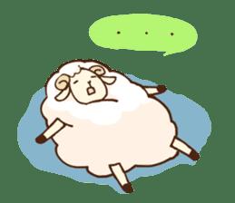 Marshmallow sheep sticker #4542810
