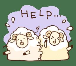 Marshmallow sheep sticker #4542811