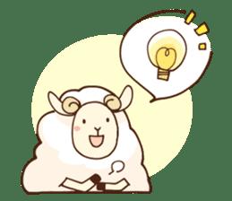 Marshmallow sheep sticker #4542812