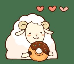 Marshmallow sheep sticker #4542814