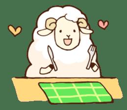 Marshmallow sheep sticker #4542815