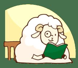 Marshmallow sheep sticker #4542816