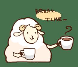 Marshmallow sheep sticker #4542817